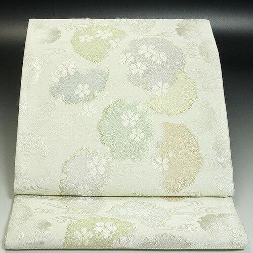 西陣いづくら袋帯 雪輪桜:色無地着物専門 みやこさかえ