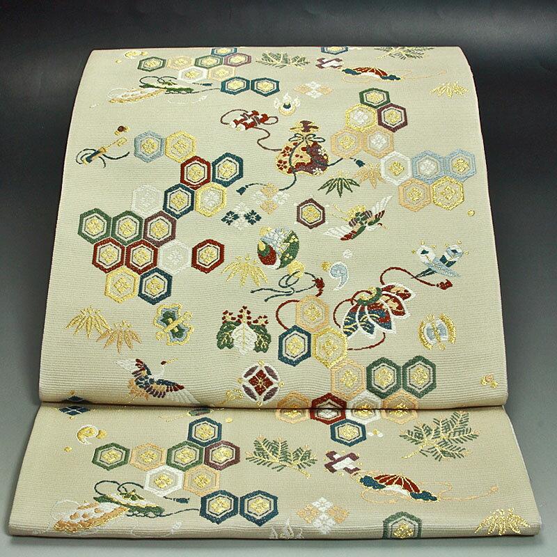 西陣山下織物袋帯 宝尽くし:色無地着物専門 みやこさかえ