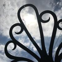 「シンデレラのティアラ(アルミ製妻飾り)」ブラック専用ビス付き錆びない妻飾り壁飾り飾りおしゃれ素敵ブルーティアラ妻壁軽い新築リフォーム店舗