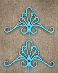 シンデレラのティアラ(アルミ製妻飾り)妻飾りターコイズブルー専用ビス付き錆びない壁飾り飾りおしゃれ素敵ブルーティアラ妻壁軽い新築リフォーム店舗洋風住宅プロバンス南仏南欧