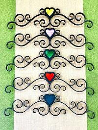 ハートガラスの妻飾り妻飾りアルミ製錆びない専用ビス付き壁飾りティアラシンデレラ飾り家紋おしゃれ素敵ブルーティアラ妻壁軽いステンドガラス新築リフォーム店舗プロバンス南仏南欧