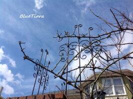トレリス薔薇の花をお庭いっぱいに!ガーデニング錆びないアルミ製薔薇庭誘引軽いイングリッシュガーデンクレマチスバラ家庭菜園Bisesガーデニングローズバラの香り