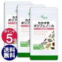 【10%OFFセール】カカオ豆ポリフェノール 約1か月分×3袋 T-675-3 送料無料 リプサ Lipusa サプリ サプリメント マグネシウム 必須脂肪酸