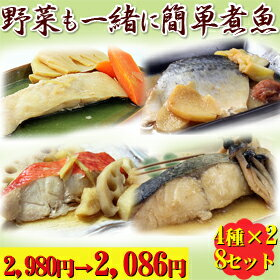 生から炊き上げるレンジで煮魚シリーズ詰め合わせ電子レンジで手軽に煮魚が味わえるセット【宮...