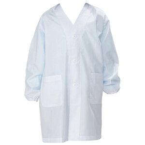 【送料無料!】抗菌加工してあるので安心!シングルタイプの給食用白衣です。学童用白衣 シング...