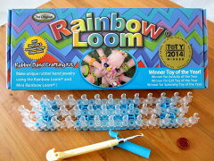 楽しく虹色輪ゴムのブレスレットが出来る編み器具のキットです。●【正規品・日本版】レインボ...