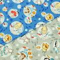 生地50cm単位オックスかぶりものネコと魚LGA-41020-2布ネコ柄コッカコスチュームアニマルJ-YXT