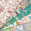 生地50cm単位綿麻キャンバスコミカルマウスMY-056.57.56布MiyakoKawaguchiケイファブリックI-ZYT