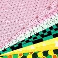 カットクロス和風柄100cm×50cmシーチング布人気漫画柄麻の葉蝶市松鱗ウロコ亀甲VTU