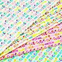 生地 1m単位 ダブルガーゼ 若葉ストライプ 小鳥と草花 SK4610-2 布 ハッピーバードシリーズ Q-XUT 【値下げ品】_ttle