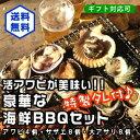 アワビが美味い!豪華なBBQセット!(アワビ4個サザエ8個大...