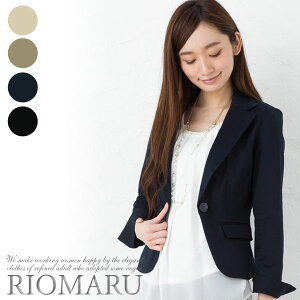 0cb3ca3492b70 上品な光沢が魅力、コットンサテン素材のジャケットです。1つボタン留めのテーラード仕様できちんとした印象。ダーツ(縦切替)で程よくタイトな美人シルエットに  ...