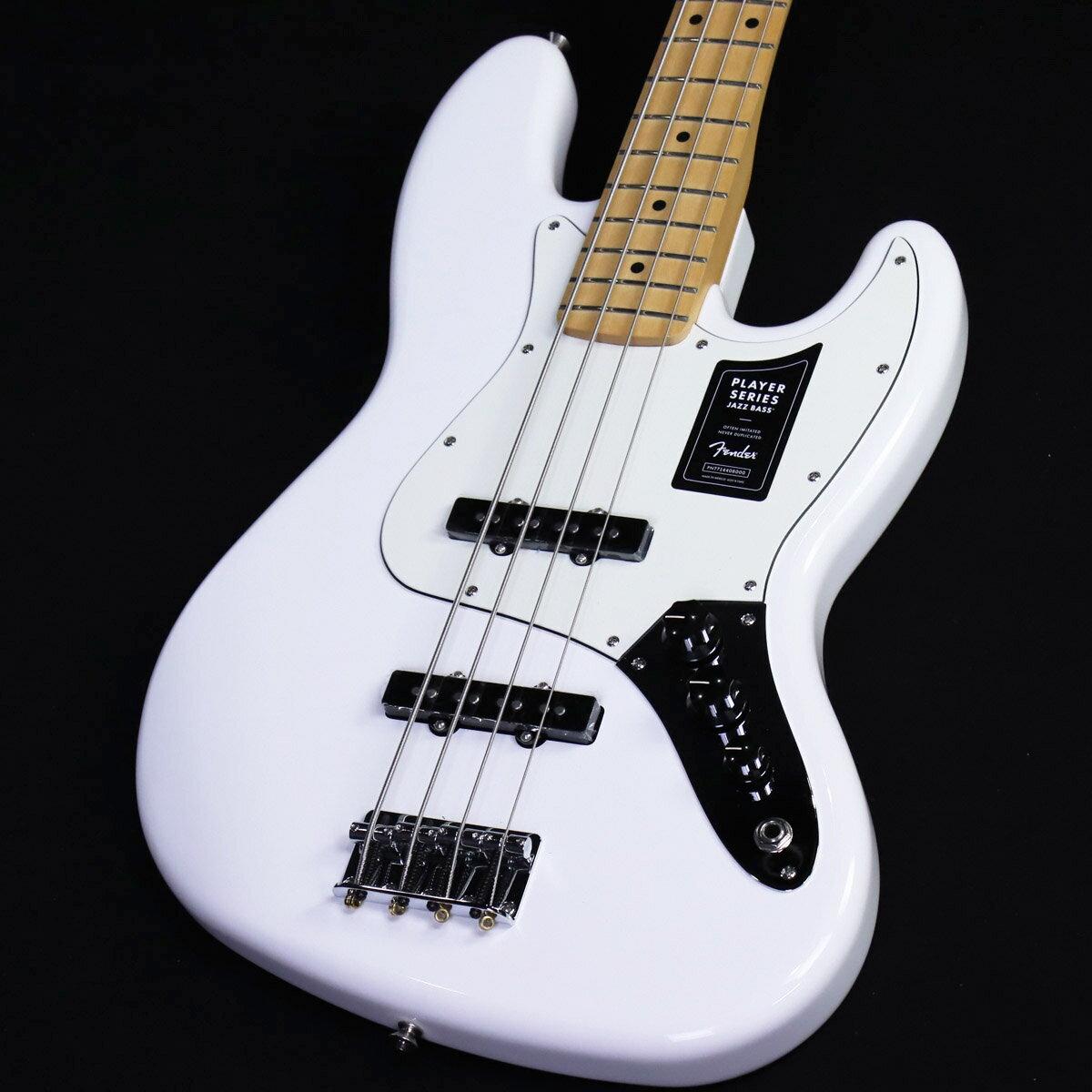 ベース, エレキベース Fender Player Series Jazz Bass Polar White Maple Fingerboard SN:MX21153021 YRK