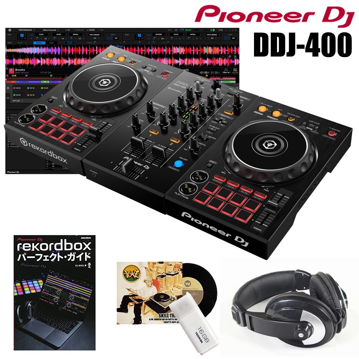 DJ機器, DJコントローラー Pioneer DDJ-400rekordboxSCRATCHUSB