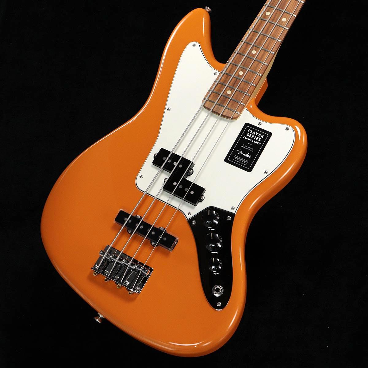 ベース, エレキベース Fender Player Series Jaguar Bass Capri Orange Pau Ferro Fingerborad