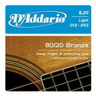 ギター用アクセサリー・パーツ, アコースティックギター弦 DAddario 8020 Bronze EJ11 Light 12-53 ()Acoustic Guitar StringsDaddarioEJ-11
