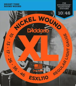 D'Addario / ESXL110 Regular Light 10-46 Double Ball End 【エレキギター弦】【Electric Guit...