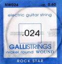 gallistrings / Electric Nickel Wound NW024 .024 バラ弦 【エレキギター弦】【ガリストリングス】【ニッケルワウンド】【Single】【NW-024】【新宿店】