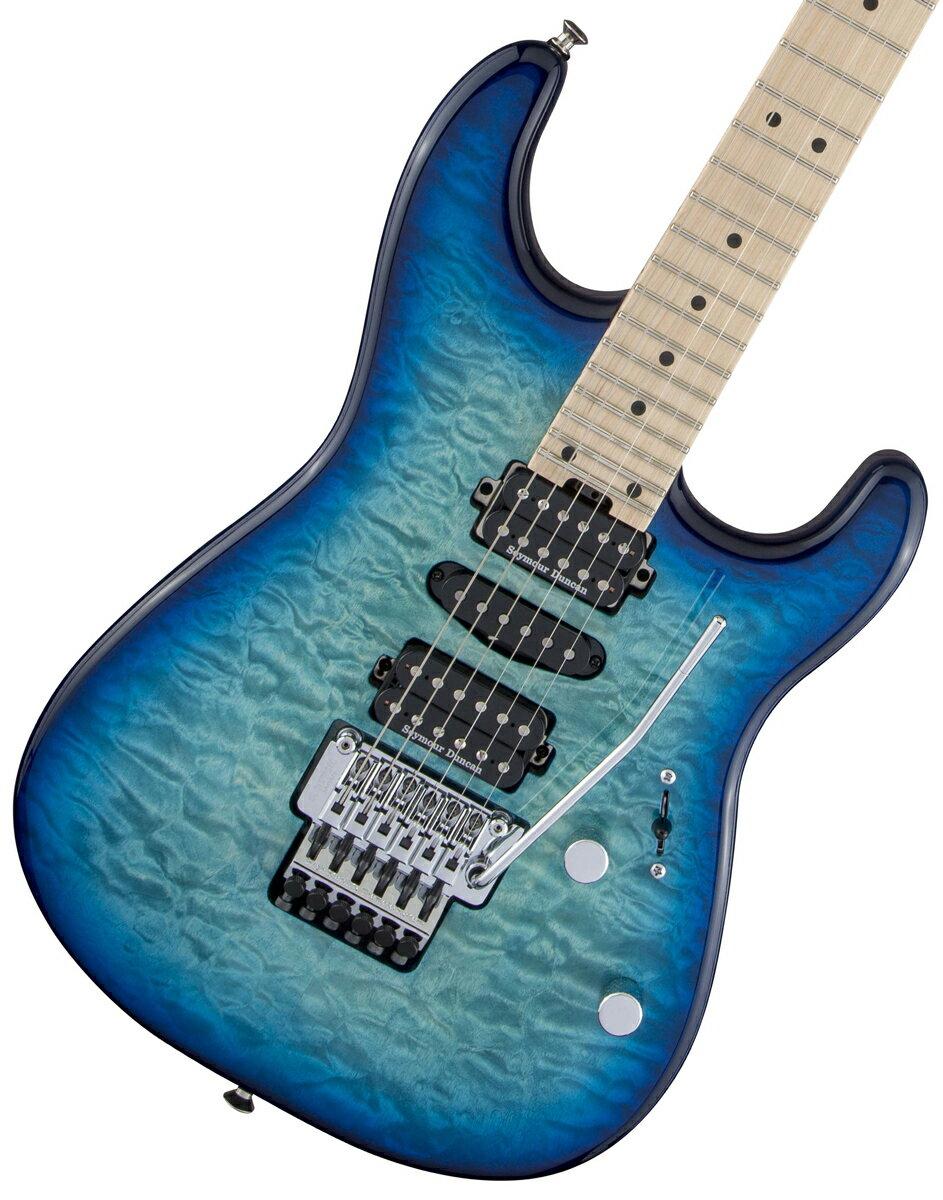 ギター, エレキギター CHARVEL MJ Series San Dimas Style 1 HSH FR M QM Caribbean Burst