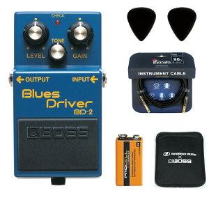 BOSS / BD-2 Blues Driver 【ピック+STS3(ケーブル)+PROCELL+スリーブケースセット】 ボス エフェクター オーバードライブ BD2