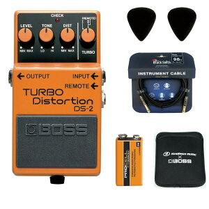 BOSS / DS-2 Turbo Distortion 【ピック+STS3(ケーブル)+PROCELL+スリーブケースセット】 ボス エフェクター ディストーション DS2