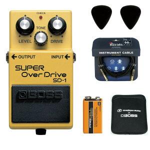 BOSS / SD-1 Super Over Drive 【ピック+STS3(ケーブル)+PROCELL+スリーブケースセット】 ボス オーバードライブ エフェクター SD1
