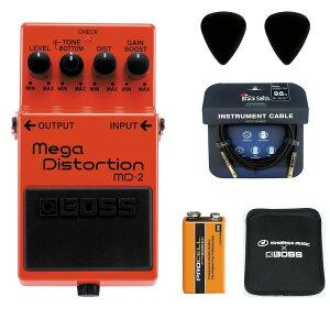 BOSS / MD-2 Mega Distortion 【ピック+STS3(ケーブル)+PROCELL+スリーブケースセット】 ボス エフェクター ディストーション MD2