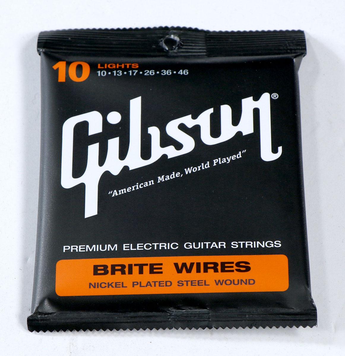 ギター用アクセサリー・パーツ, エレキギター弦 Gibson SEG-700L BRITE WIRES LIGHTS 10-46