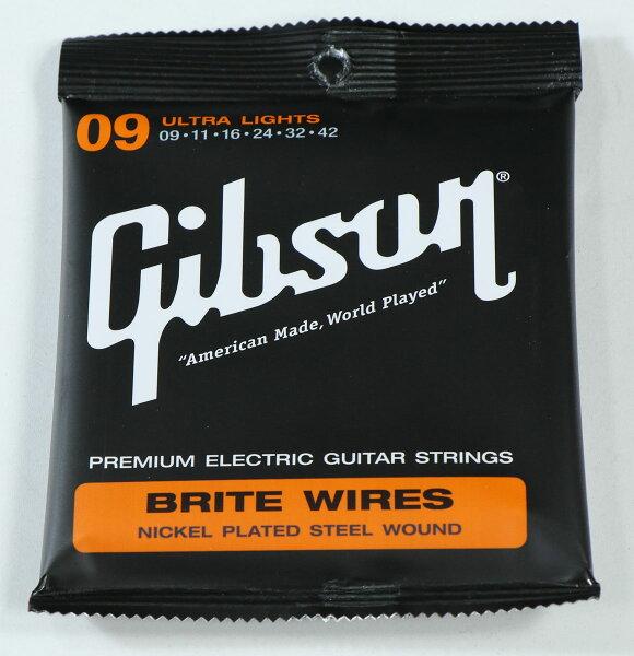 Gibson/SEG-700ULBriteWiresNickelPlatedSteelWoundUltra-Light09-42