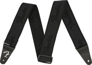 Fender / WeighLess 2 Inch Running Logo Strap Black/Black フェンダー 【ストラップ】