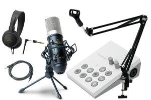 Roland / GO:LIVECAST -おすすめコンデンサーマイクMPM-1000J、アームスタンド黒、ヘッドフォン、AUXケーブル付の高音質配信セット- Live Streaming Studio for Smartphones