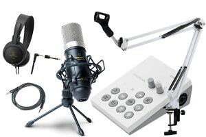 Roland / GO:LIVECAST -おすすめコンデンサーマイクMPM-1000J、アームスタンド白、ヘッドフォン、AUXケーブル付の高音質配信セット- Live Streaming Studio for Smartphones