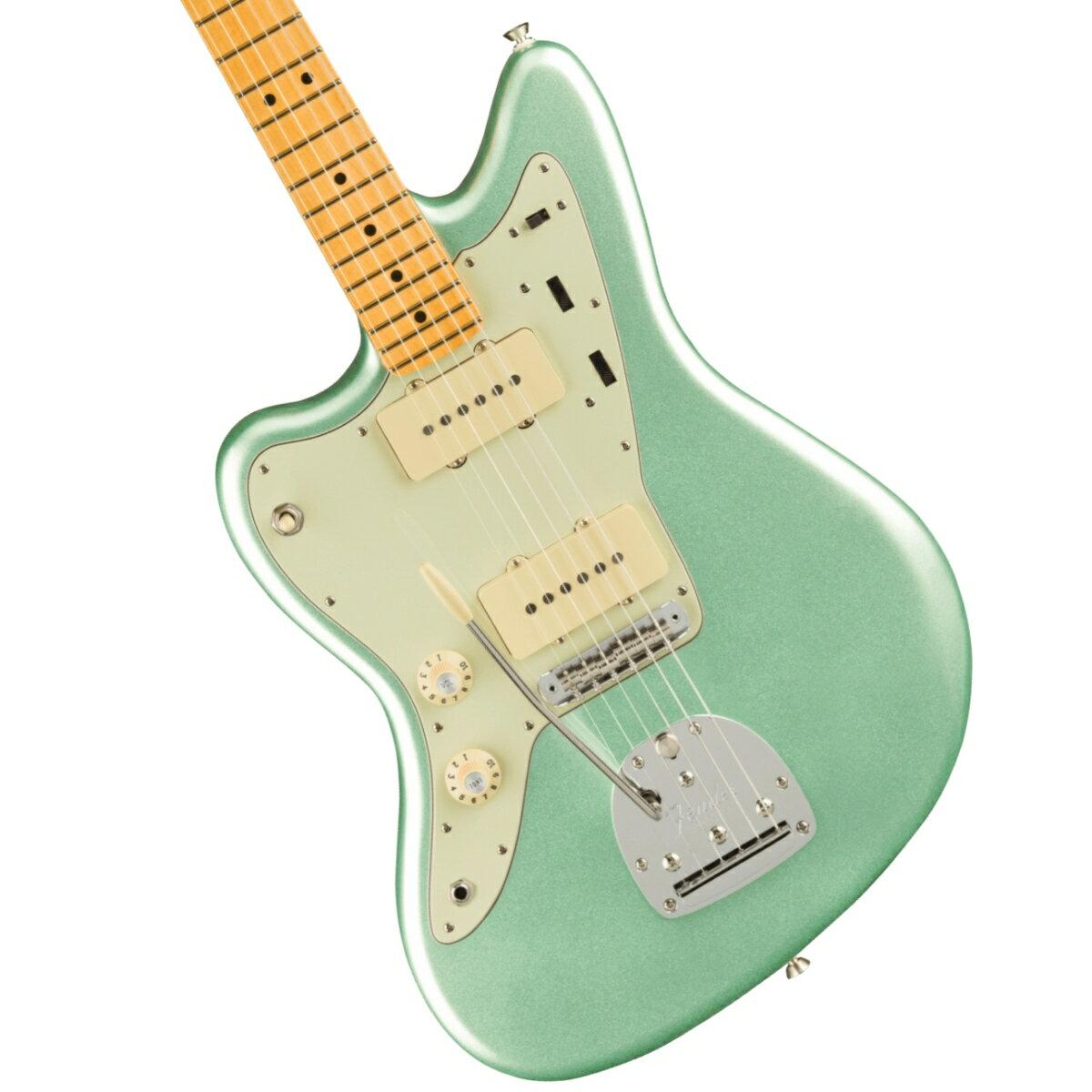 ギター, エレキギター Fender American Professional II Jazzmaster Left-Hand Maple Fingerboard Mystic Surf Green 1!2306619444005YRK