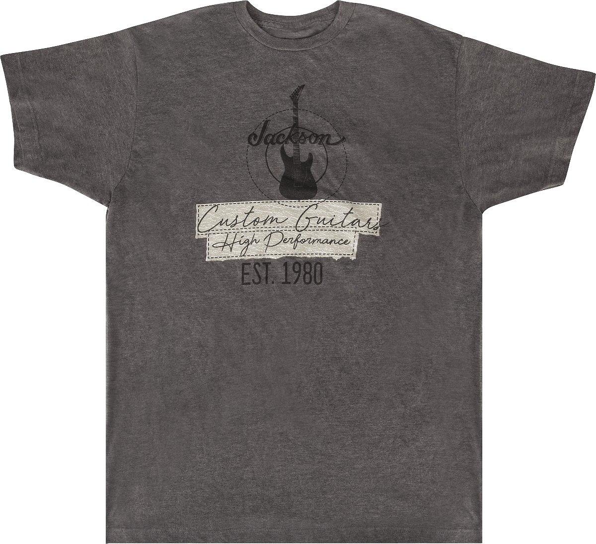 アクセサリー, その他 Jackson Jackson Custom Guitar T-Shirt Charcoal L T