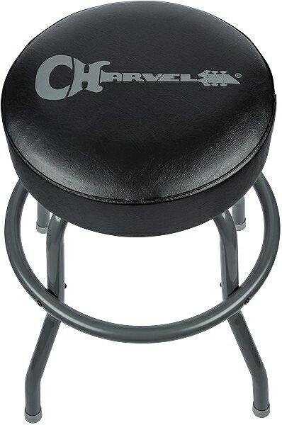 アクセサリー, その他 Charvel Charvel Barstool Black Stool and Legs with Gray Logo 24