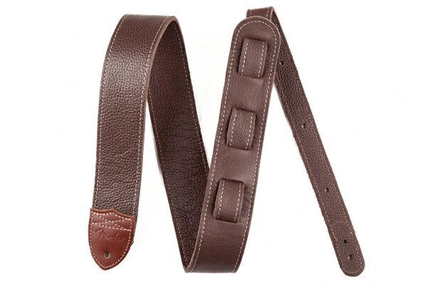 アクセサリー・パーツ, ストラップ Fender Custom HQ Leather Straps Brown WEBSHOP