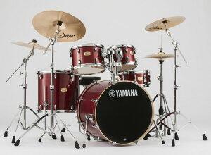 【タイムセール:28日12時まで】YAMAHA ステージカスタム ドラムセット SBP2F5S18-CR(クランベリーレッド) 22BD/スタンダードセット+Sジルジャン3シンバルセット【YRK】