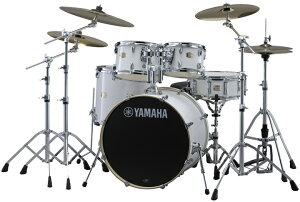 【タイムセール:28日12時まで】YAMAHA ステージカスタム ドラムセット SBP2F5S18-PW(ピュアホワイト) 22BD/スタンダードセット+Sジルジャン3シンバルセット【YRK】
