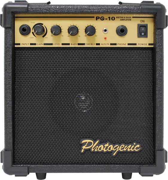 PhotoGenic/PG-10ギター&ベース兼用アンプ10W 入門用に最適な楽器用アンプ