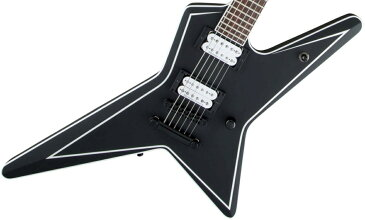 Jackson / USA Signature Gus G. Star Satin Black with White Pinstripes ジャクソン【お取り寄せ商品】