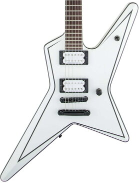 Jackson / USA Signature Gus G. Star Satin White with Black Pinstripes ジャクソン【お取り寄せ商品】