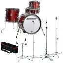 Ludwig LC179X025 BREAKBEATS Wine Red Sparkle / TAMAクラシックスタンドセット【お取り寄せ商品】