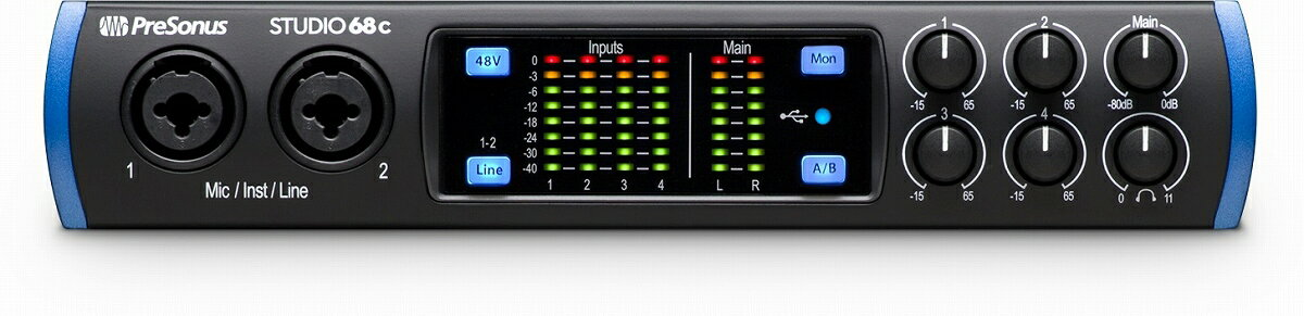DAW・DTM・レコーダー, オーディオインターフェイス PreSonus Studio 68c USB Type-C MIDI