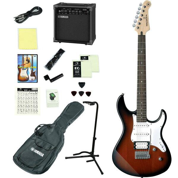 YAMAHA/PACIFICA112VOVS(オールドバイオリンサンバースト) アンプつきエレキギター15点入門セット ヤマハP