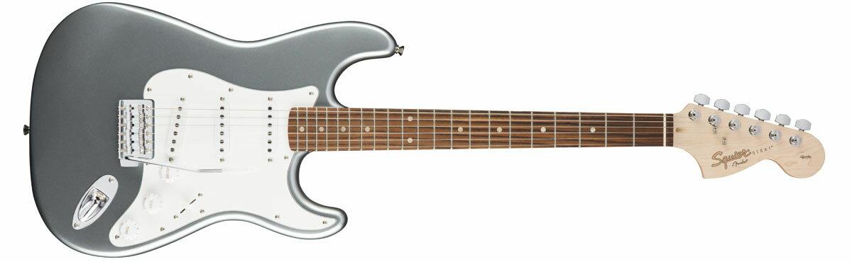 ギター, エレキギター 2712Squier by Fender Affinity Stratocaster Slick Silver Laurel Fingerboard0885978638567