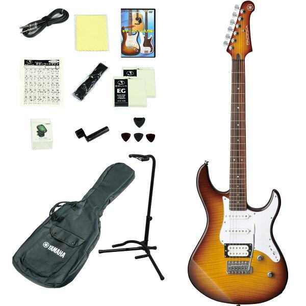 YAMAHA/PACIFICA212VFMTBS(タバコブラウンサウンバースト) エレキギター14点入門セット PAC212VP