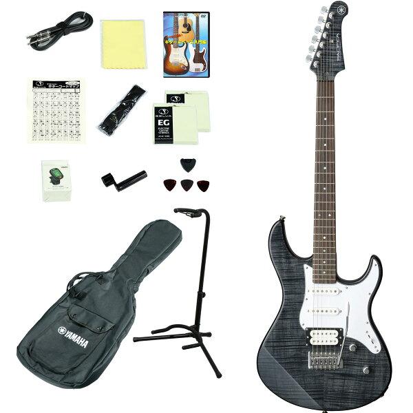 YAMAHA/PACIFICA212VFMTBL(トランスルーセントブラック) エレキギター14点入門セット PAC212VPA