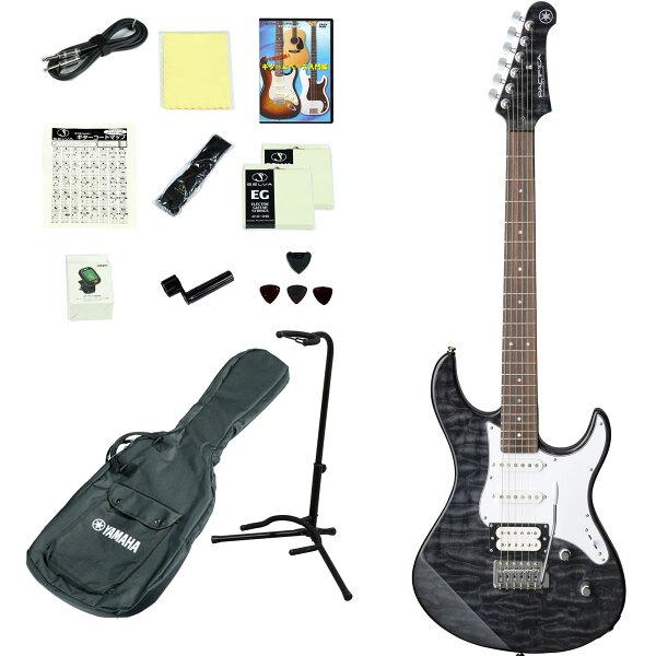 YAMAHA/PACIFICA212VQMTBL(トランスルーセントブラック) エレキギター14点入門セット ヤマハPAC212