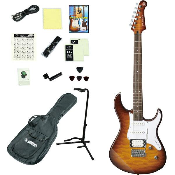 YAMAHA/PACIFICA212VQMTBS(タバコブラウンサンバースト) エレキギター14点入門セット ヤマハPAC212
