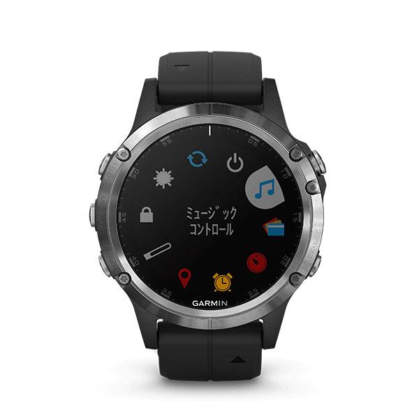 【GPSスマートウォッチ】 ガーミン Garmin 高級GPSスマートウォッチ fenix 5 plus サファイアブラック(010-01988-78)